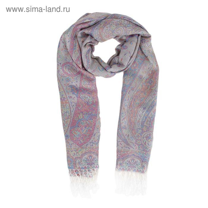 Жаккардовый палантин из шелковистой ткани  70*180 Р3237 цвет8