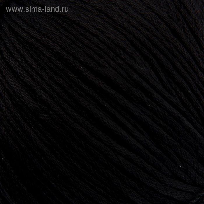 """Пряжа """"Подснежник"""" 100% мерсеризованный хлопок 110м/100гр (0140, черный)"""