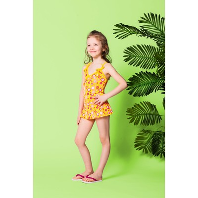 """Детский раздельный купальник """"Солнышко"""" ( рост 110-116 см, 4-5 лет), 100 % полиэстер"""