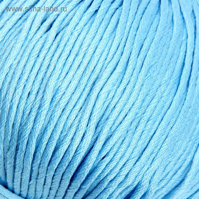 """Пряжа """"Подснежник"""" 100% мерсеризованный хлопок 110м/100гр (0275, бледно-голубой)"""