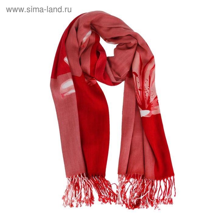 Палантин текстильный с саржевым переплетением 70*185 198 цвет R21-8