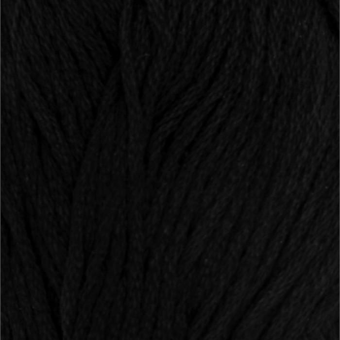 """Пряжа """"Ландыш"""" 100% мерсеризованный хлопок 115м/50гр (0140, черный)"""