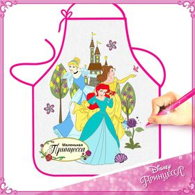 """Фартук для девочек """"Маленькая принцесса"""", Принцессы, 40х50 см"""