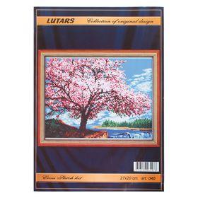 """Набор для вышивания """"Цветущая яблоня"""" 27 х 20 см"""