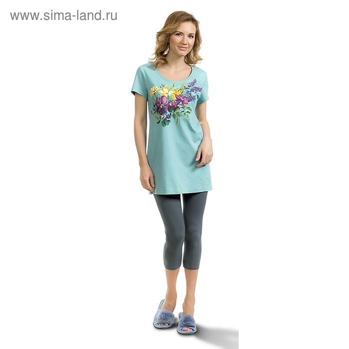 Пижама женская, цвет голубой, размер 46 (M) (арт. PML683)