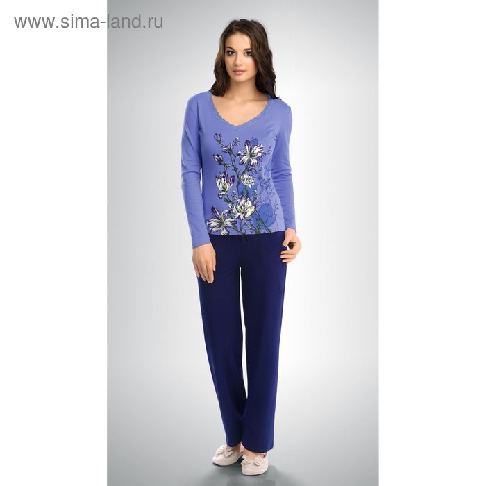 Пижама женская, цвет голубой, размер 44 (S) (арт. PJP253)