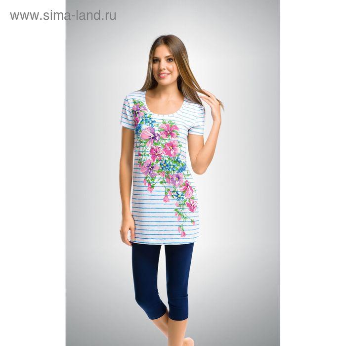 Пижама женская, цвет голубой, размер 46 (M) (арт. PML290)