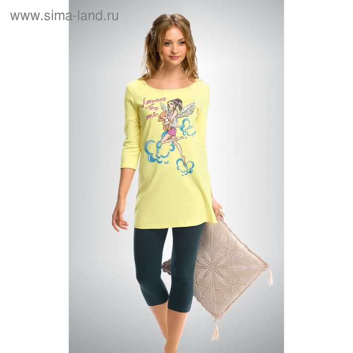 Пижама женская, цвет кремовый, размер 44 (S) (арт. PML293)