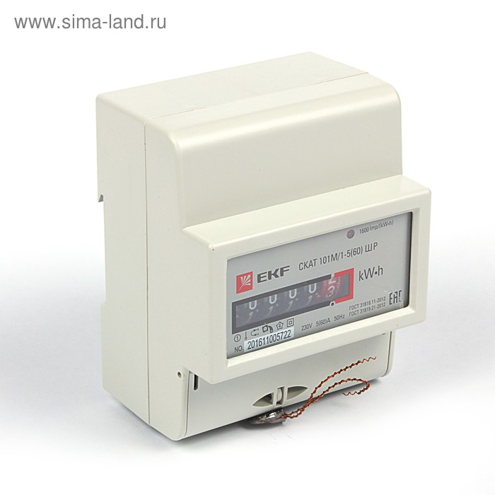 """Счетчик электроэнергии EKF """"Скат"""" 101М/1-5(60) ШР"""
