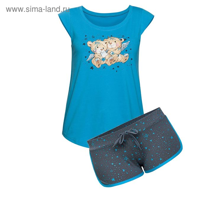 Пижама женская, цвет синий, размер 44 (S) (арт. PVH682/1)