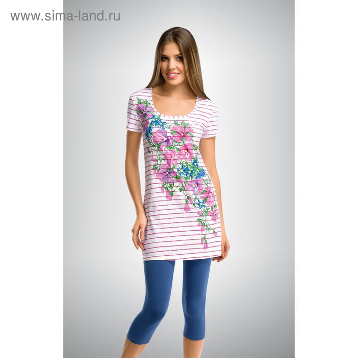 Пижама женская, цвет розовый, размер 48 (L) (арт. PML290)