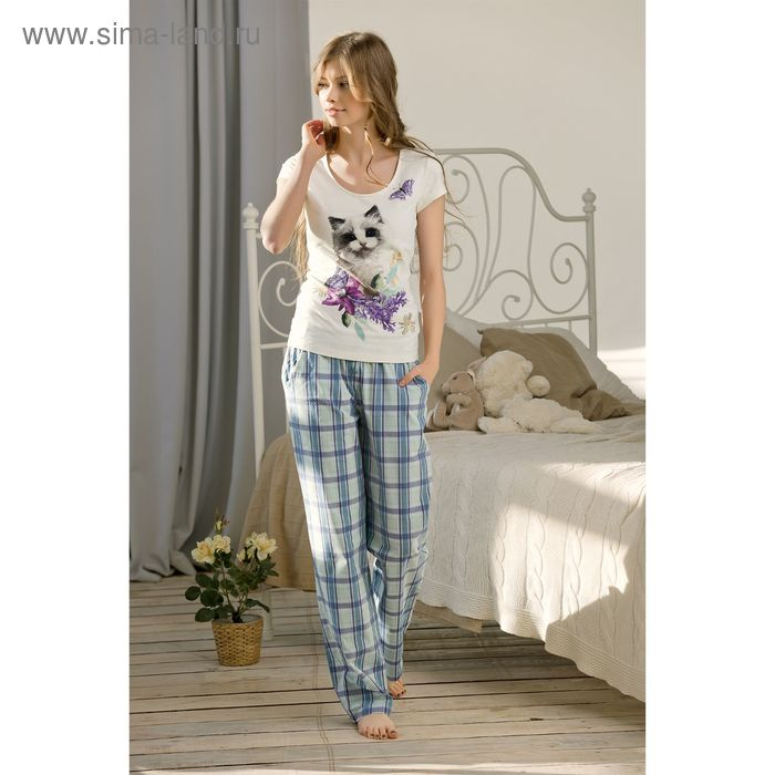Пижама женская, цвет сиреневый, размер 50 (XL) (арт. PTP683)