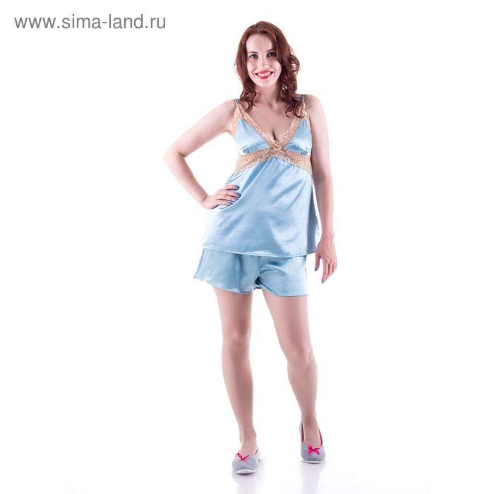 Пижама женская, цвет голубой, размер 46 (M) (арт. PVH672)