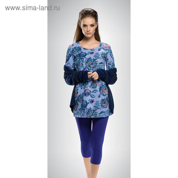 Пижама женская, цвет синий, размер 48 (L) (арт. PML674)