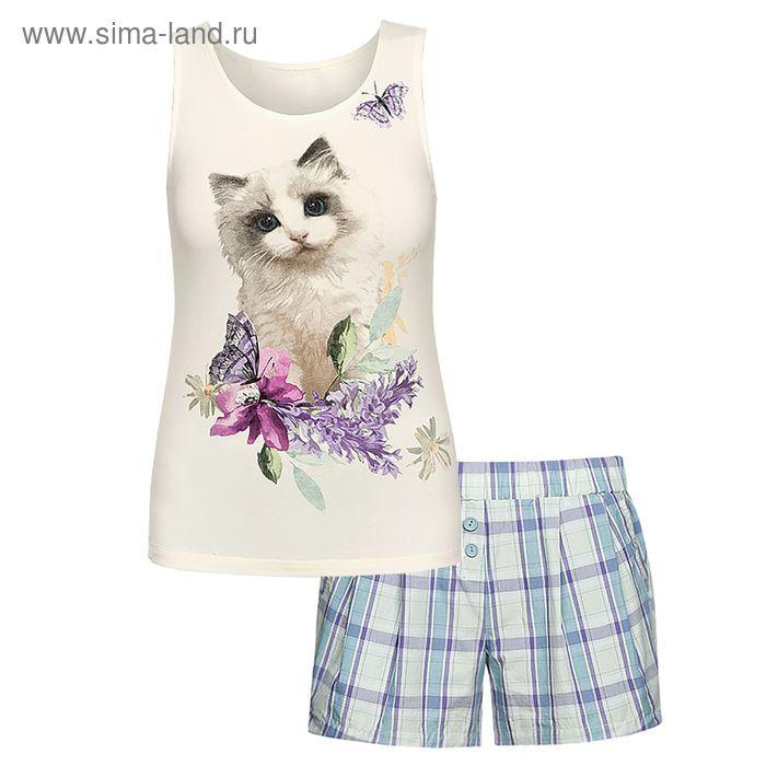 Пижама женская, цвет кремовый, размер 48 (L) (арт. PVH683/1)