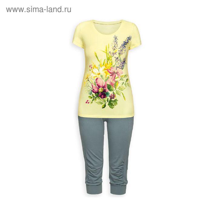 Пижама женская, цвет лимонный, размер 46 (M) (арт. PTB683)