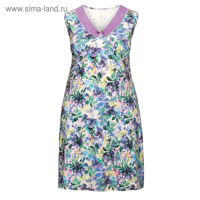 Сорочка женская, цвет сиреневый, размер 54 (3XL) (арт. ZDV683)