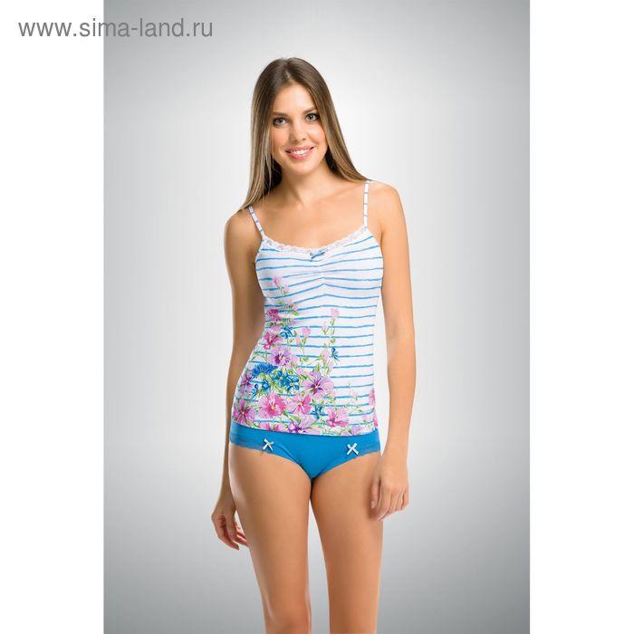 Комплект женский, цвет голубой, размер 42 (XS) (арт. PAV290)