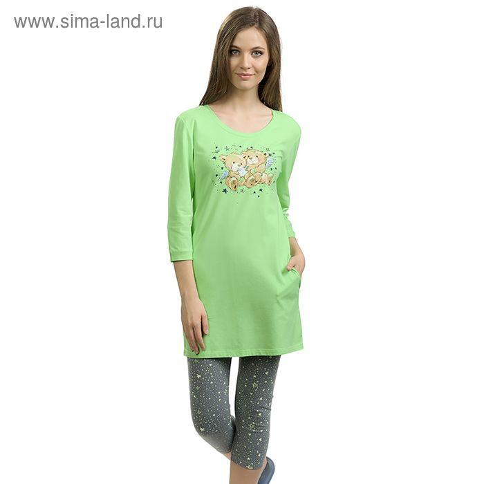 Пижама женская, цвет зелёный, размер 42 (XS) (арт. PML682/1)