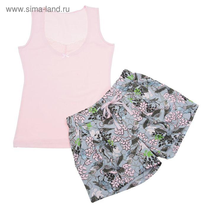 Пижама женская, цвет розовый, размер 46 (M) (арт. PVH673)