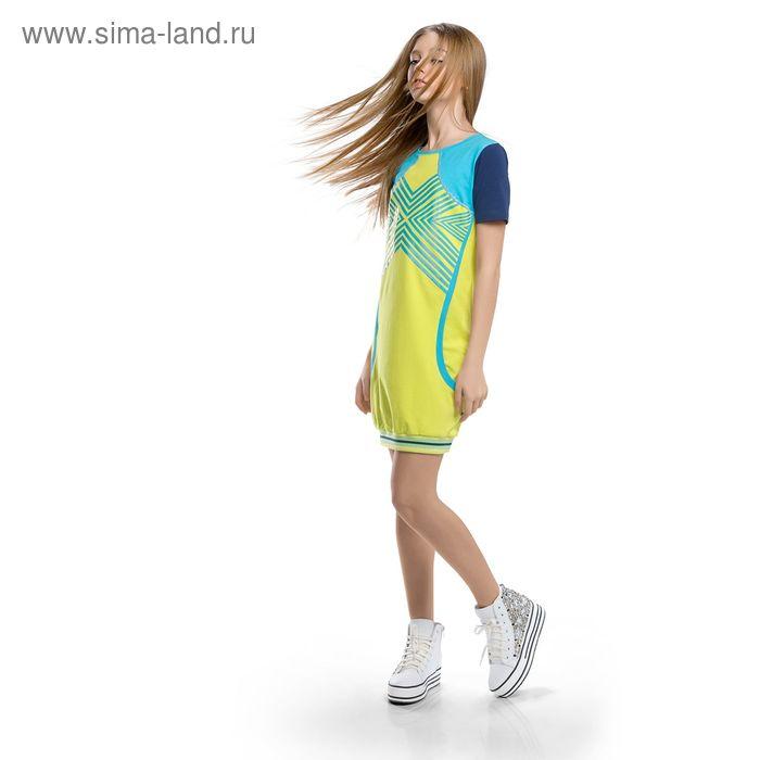 Платье для девочки, рост 116-122 см, возраст 6 лет, цвет зелёный (арт. GDT488)