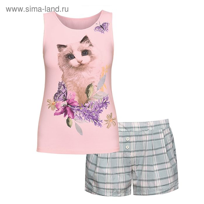 Пижама женская, цвет сиреневый, размер 42 (XS) (арт. PVH683/1)