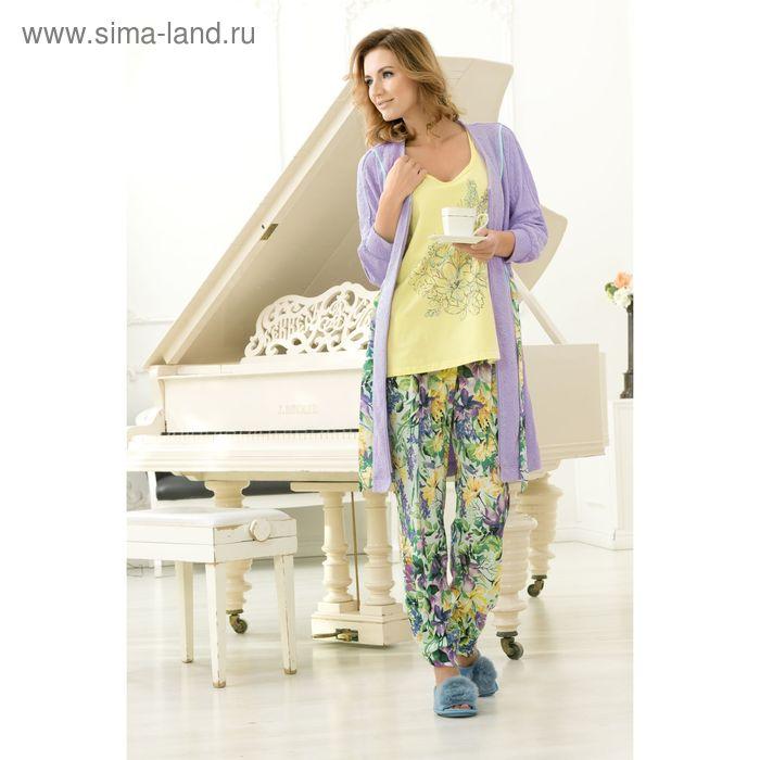 Пижама женская, цвет лимонный, размер 50 (XL) (арт. PVP683)