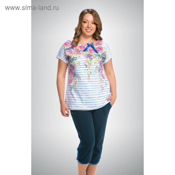Пижама женская, цвет голубой, размер 54 (3XL) (арт. ZTB295)