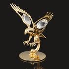 Сувенир «Орёл», 4х3х6 см, с кристаллами Сваровски