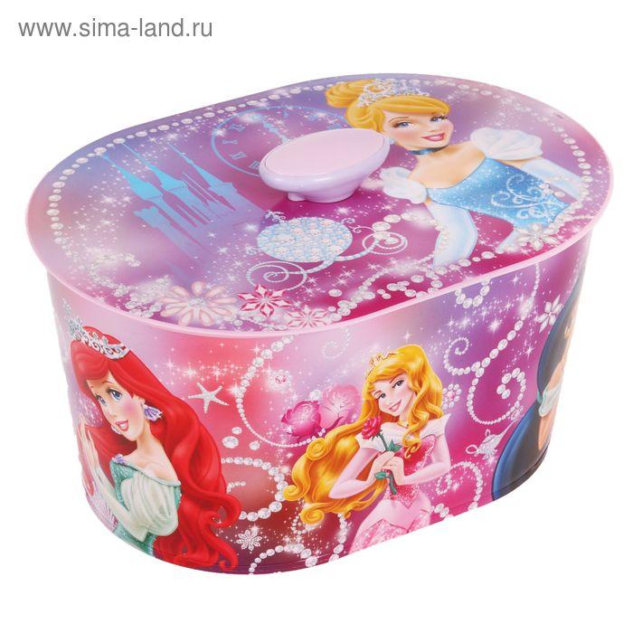 """Шкатулка игрушечная """"Принцесса Дисней"""" №1 люкс, овальная"""