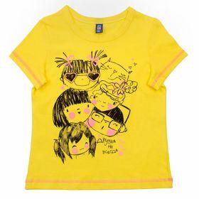 """Футболка для девочки """"Друзья"""", рост 98-104 см (28), цвет лимон Р107668_Д"""