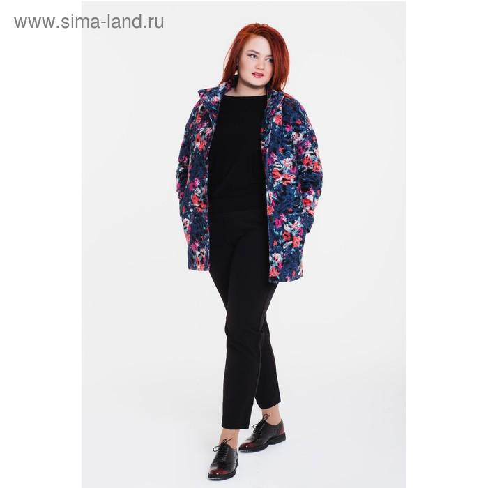 """Пальто женское на синтепоне """"Руслана"""", рост 168 см, размер 54, цвет серый"""