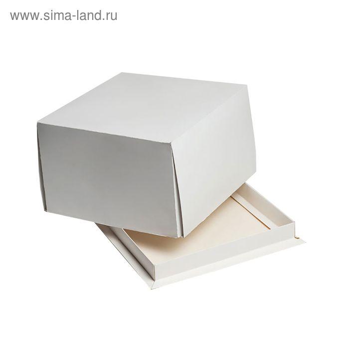 Кондитерская упаковка, короб белый 21 х 21 х 10 см