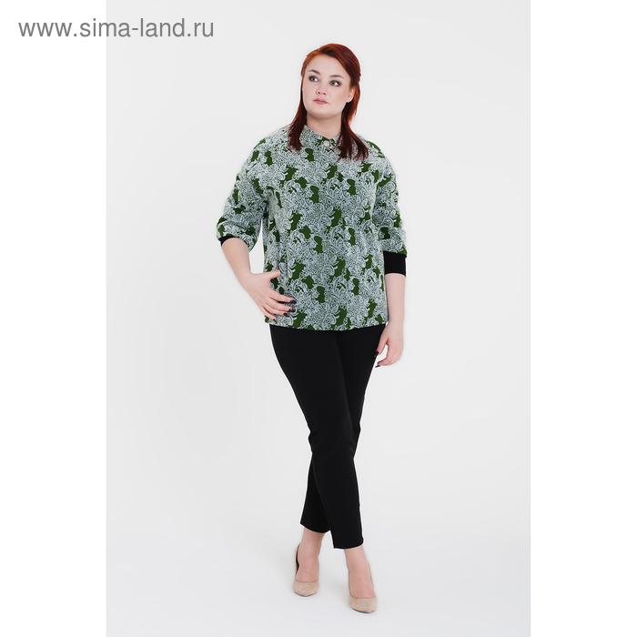 """Пальто женское """"Ирен"""", рост 168, размер 46, рукав 7/8, цвет зеленый"""