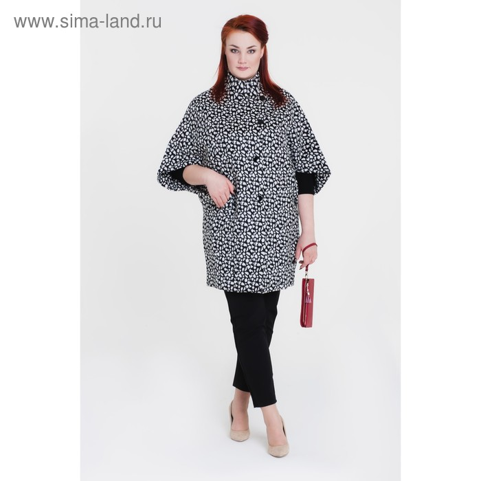 "Пальто женское ""Капля"", рост 168, размер 48, цвет белый"