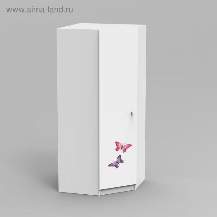 Шкаф для одежды детский угловой Аврора 2000*800*800*500 Белый