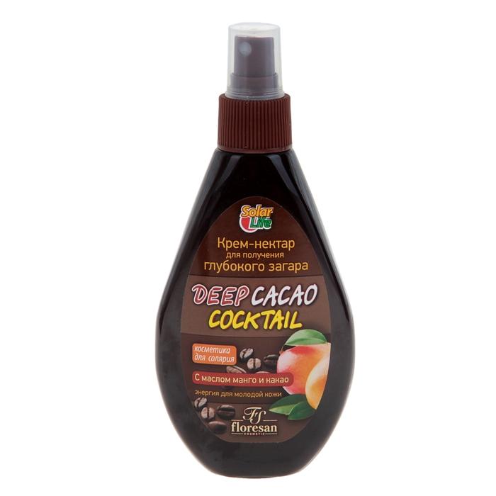 Крем-нектар Deep Cacao Coctail для получения глубокого загара, с маслом манго и какао, 160 мл
