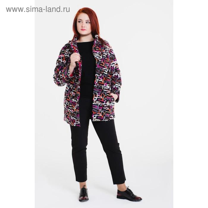 """Пальто женское на синтепоне """"Геля"""" С+, рост 168, размер 52, цвет цифры"""