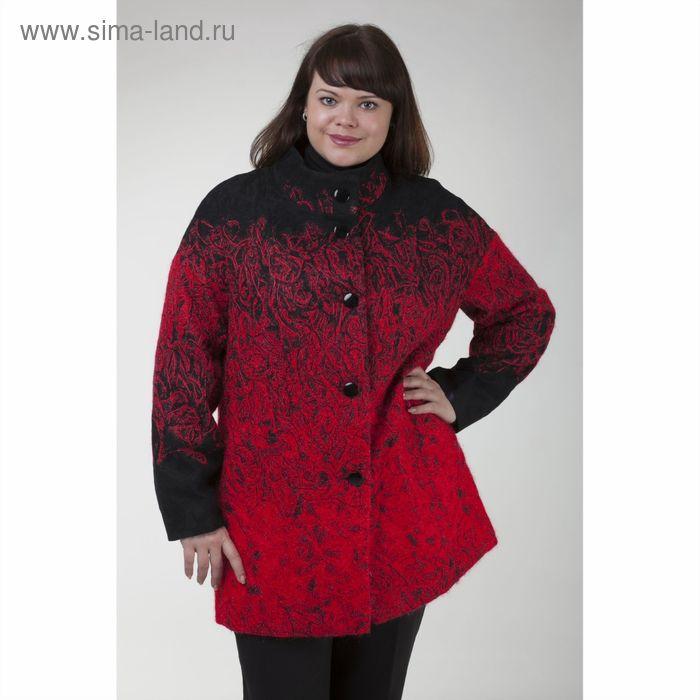 """Пальто женское на синтепоне """"Руслана"""" С+, рост 168, размер 54, цвет красный"""