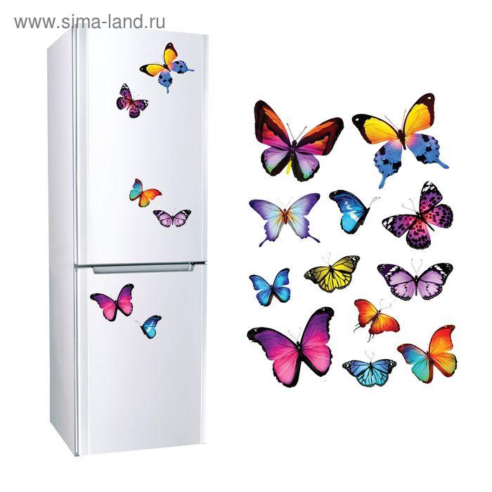 "Наклейки декоративные ""Бабочки"", 30 х 40 см"