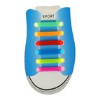 Резиновые шнурки (набор 6 штук), цвета МИКС