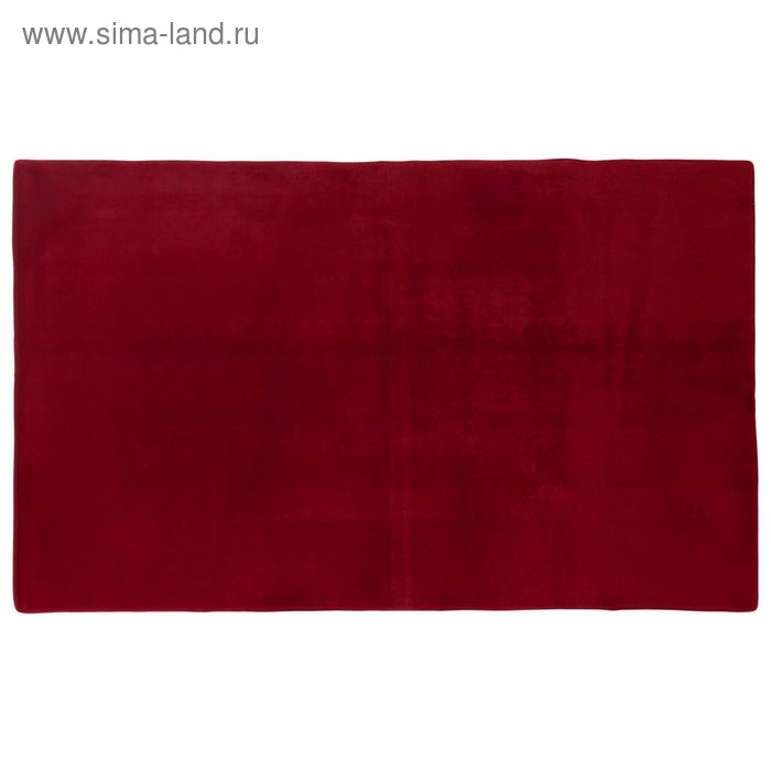 """Ковер с густым ворсом 120х60 см """"Джакомо"""", цвет бордовый"""