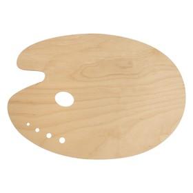 Палитра деревянная овальная №6 30*40 см