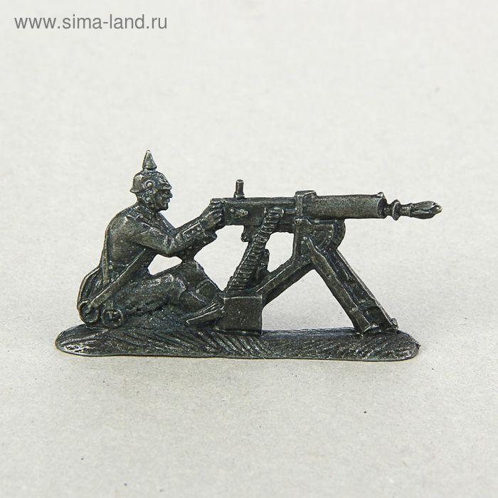 """Оловянный солдатик """"Германский пулеметчик"""""""