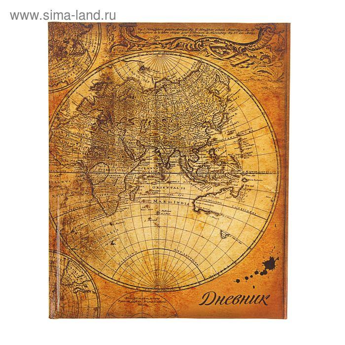 """Дневник для 5-11 классов """"Карта"""", твёрдая обложка, глянцевая ламинация, 48 листов"""