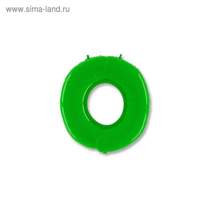 """Шар полимерный 40"""" """"Цифра 0"""", цвет ярко-зелёный"""