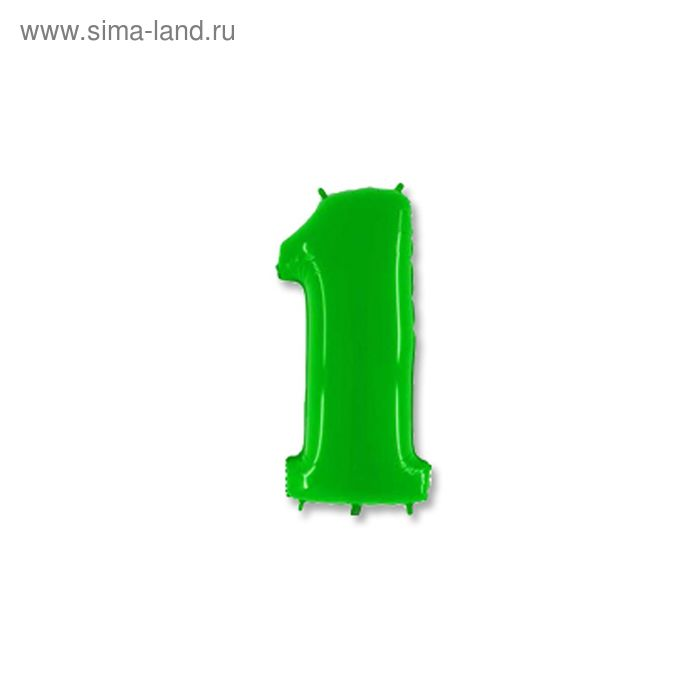 """Шар полимерный 40"""" """"Цифра 1"""", цвет ярко-зелёный"""