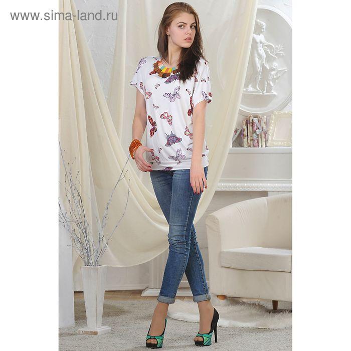 Блуза женская, рост 164 см, размер 54, цвет белый (арт. 4724)