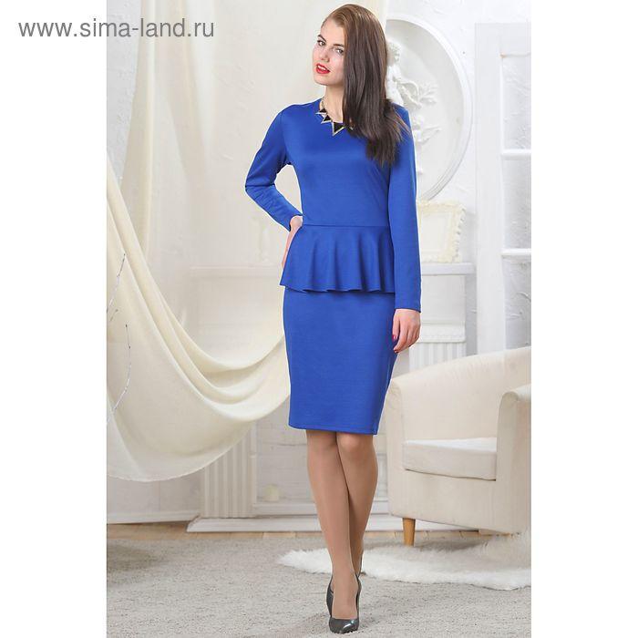 Платье женское, рост 164 см, размер 46, цвет синий (арт. 4728а)