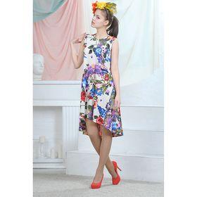 Платье, цвет белый/синий/красный, размер 42, рост 164 см (арт. 4635)